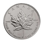 A 1 Oz platinum maple leaf coinj