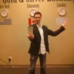 Aaron McDermand Holds 100 Oz Silver Bullion Bar