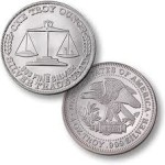 Silver rounds are minted privately.