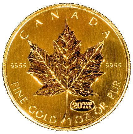 1 Oz Canada Gold Maple Leaf Aaron